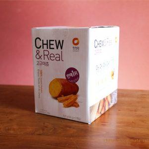 韓国で大人気の天然素材だけを使った噛む干しさつまいも「CHEW & Real」がコストコで買えます!