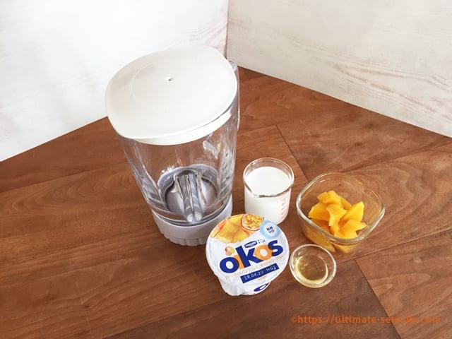 オイコスで作るフルーツミルクラッシー