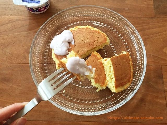 オイコスで作るしっとりふわふわパンケーキ