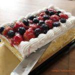 ストロベリーブルーベリーケーキの冷凍保存方法